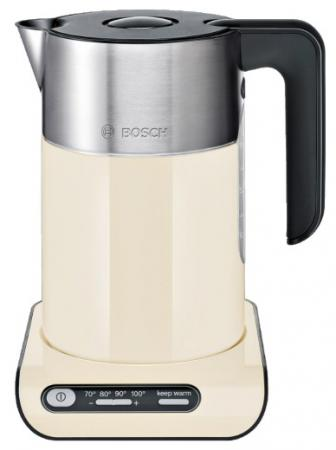 Чайник Bosch TWK 8617P 2400 Вт 1.5 л металл/пластик бежевый чайник bosch twk861p3ru 2400 вт 1 5 л металл пластик чёрный