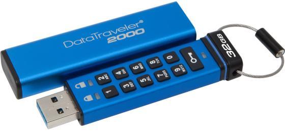 Флешка USB 32Gb Kingston Keypad DT2000/32GB синий флешка usb 32gb corsair voyager cmfvy3a 32gb черный синий
