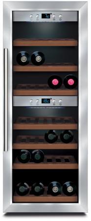 Винный шкаф CASO WineMaster 38 серебристый винный шкаф caso winecase red 12 черный серебристый