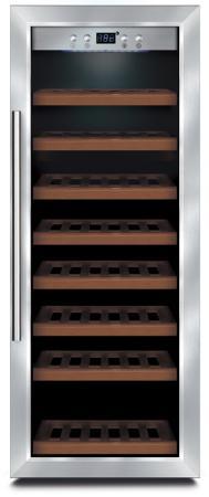 Винный шкаф CASO WineSafe 43 серебристый винный шкаф caso winecase red 12 черный серебристый