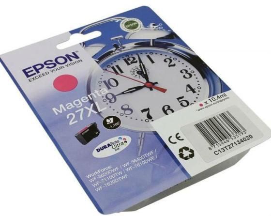 Фото - Картридж Epson CLI-471XLM для Epson WorkForce WF-3620 1100стр Пурпурный компактный фотопринтер epson workforce wf 100w