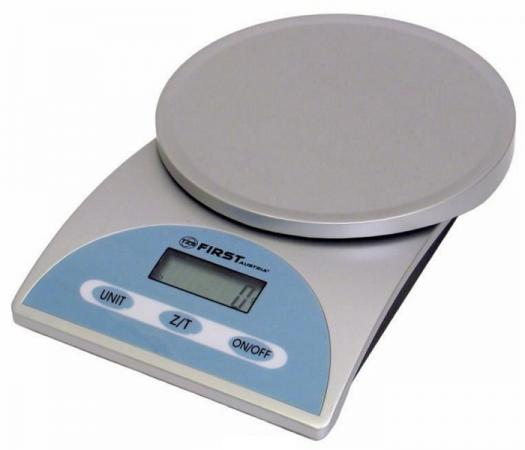 все цены на Весы кухонные First FA-6405 серебристый голубой онлайн