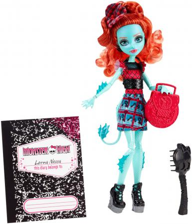 Кукла Monster High Школьный обмен Lorna McNessie 26 см CFD17/CDC36 mega bloks monster high конструктор lorna mcnessie
