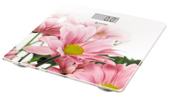 Весы напольные Vitek VT-8051(W) белый рисунок цена и фото