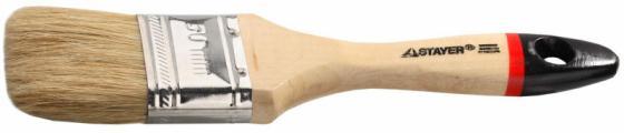 Кисть плоская Stayer UNIVERSAL-EURO натуральная щетина деревянная ручка 63мм 0102-063 цена