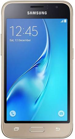 Смартфон Samsung Galaxy J1 2016 золотистый 4.5 8 Гб LTE Wi-Fi GPS 3G SM-J120FZDDSER смартфон samsung galaxy j2 2018 золотистый 5 16 гб lte wi fi gps 3g sm j250fzddser
