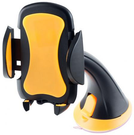 Автомобильный держатель Perfeo PH-501 до 6.5 на стекло черный + оранжевый автомобильный держатель perfeo ph 707 2 6 8 на стекло пластик черный