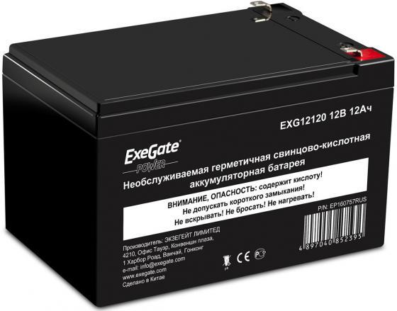 все цены на  Батарея Exegate 12V 12Ah EXG12120  онлайн