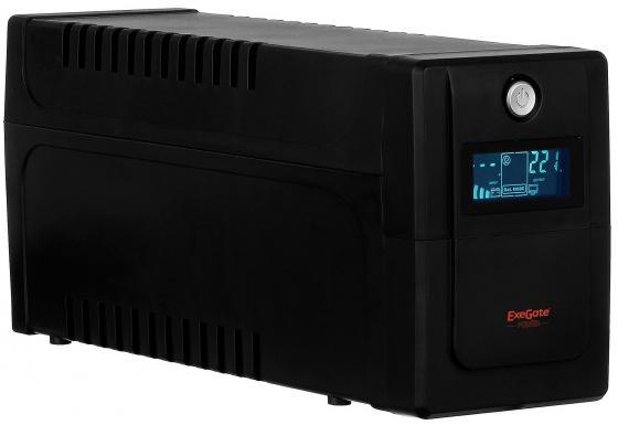 ИБП Exegate ULB-800 LCD 480Вт 800ВА черный EP212517RUS