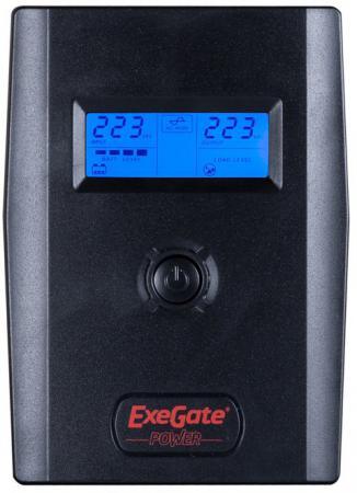 ИБП Exegate ULB-600 LCD 360Вт 600ВА черный EP212515RUS