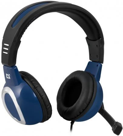 Гарнитура Defender Warhead G-280 синий 64125 игровые наушники defender warhead g 280 64125