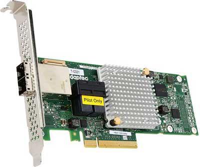 Контроллер Adaptec 1000-8i8e HBA 2288500-R контроллер adaptec 1000 8i hba 2288300 r