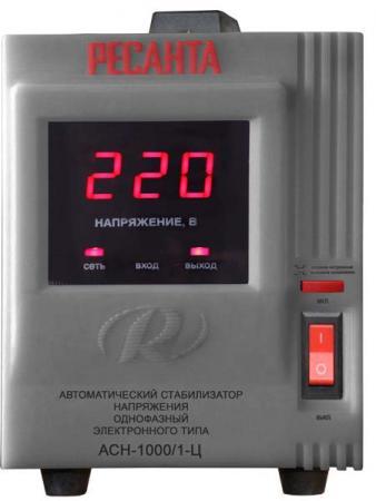 Стабилизатор напряжения Ресанта ACH-1000/1-Ц 1 розетка стабилизатор напряжения ресанта ach 10000 1 ц 1 розетка серый