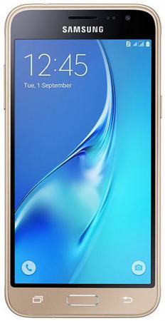 Смартфон Samsung Galaxy J3 2016 золотистый 5 8 Гб LTE Wi-Fi GPS 3G SM-J320FZDDSER смартфон philips xenium s327 синий 5 5 8 гб lte wi fi gps 3g