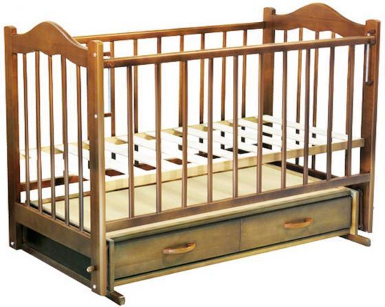 Кроватка с маятником Ведрус Кира 4 (орех) кроватка с маятником ведрус милена белая
