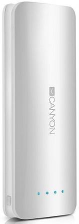 Портативное зарядное устройство Canyon CNE-CPB156W 15600мАч белый аккумулятор canyon cne cpb130 13000mah white cne cpb130w