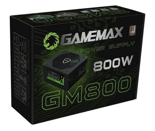 Блок питания ATX 800 Вт GameMax GM-800 EX221641RUS блок питания atx 800 вт gamemax gm 800 ex221641rus
