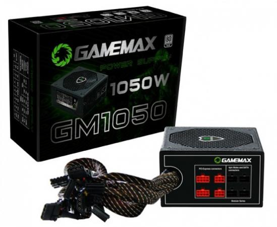 Блок питания ATX 1050 Вт GameMax GM-1050 блок питания gamemax gm 500g 500w