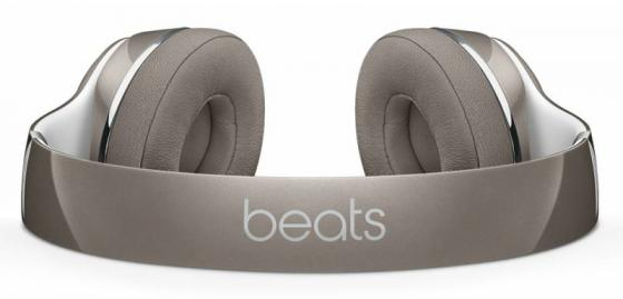 Наушники Apple Beats Solo 2 Luxe Edition серебристый MLA42ZE/A наушники beats solo 2 luxe edition голубой ml9f2ze a