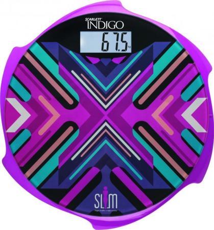 Весы напольные Scarlett IS-BS35E601 пурпурный рисунок весы напольные little balance little magenta цвет пурпурный
