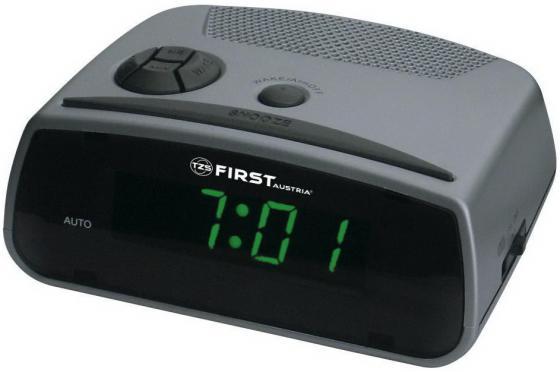 Часы с радиоприёмником First 2410 серый часы с радиоприёмником first 2410 черный