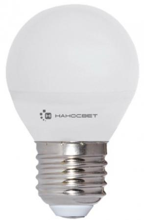 Лампа светодиодная шар Наносвет EcoLed E27 6.5W 4000K L133 лампа светодиодная e27 6 5w 4000k шар матовый le p45 6 5 e27 840 l133