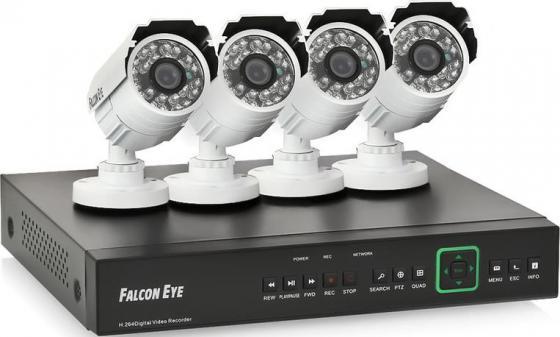 Комплект видеонаблюдения Falcon Eye FE-0108AHD-KIT PRO 8.4 4 уличные камеры 8-ми канальный видеорегистратор установочный комплект