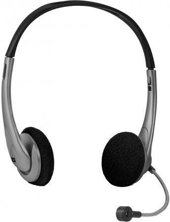 Гарнитура Defender Aura 114 черный серый 63114
