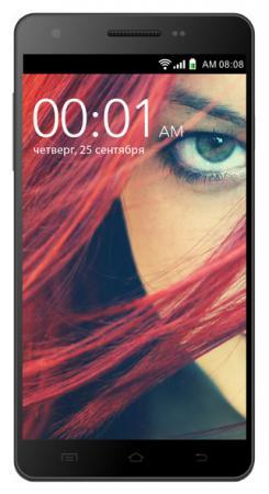 Смартфон KREZ SL502B4 DUO 3G черный 5.5 4 Гб Wi-Fi GPS 3G смартфон digma s505 3g vox черный
