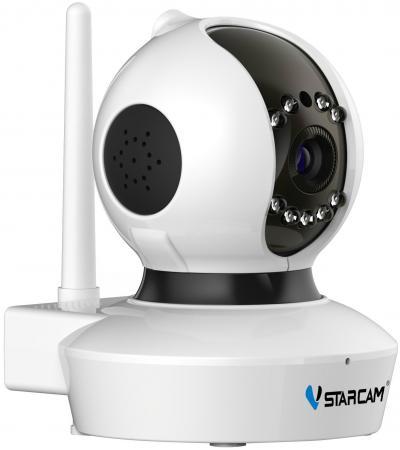 Камера IP VStarcam C7838WIP(С7823) MINI CMOS 1/4 1280 x 720 H.264 Wi-Fi RJ-45 LAN PoE белый wanscam jw0011 1 4 cmos 0 3mp p2p indoor ip camera w 36 ir led wi fi silver uk plug