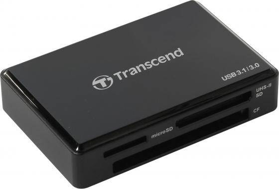 Картридер внешний Transcend TS-RDF9K USB 3.1/3.0 All-in-1 UHS-II черный card reader transcend compact ts rdp5k usb 2 0 черный