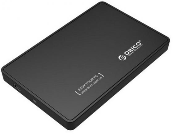 Внешний контейнер для HDD 2.5 SATA Orico 2588US-BK USB2.0 черный внешний контейнер для hdd 2x3 5 sata orico 9528u3 usb3 0 серебристый