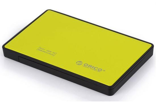 Внешний контейнер для HDD 2.5 SATA Orico 2588US3-OR USB3.0 желтый внешний контейнер для hdd 2x3 5 sata orico 9528u3 usb3 0 серебристый