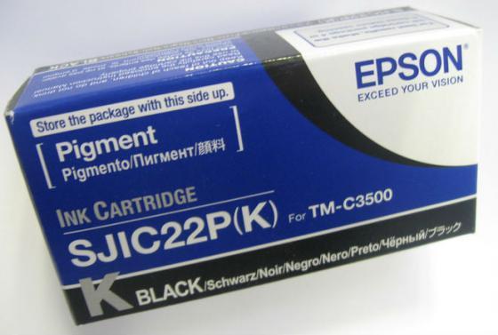 Картридж Epson C33S020601 для TM-C3500 черный картридж epson c33s020601 для tm c3500 черный