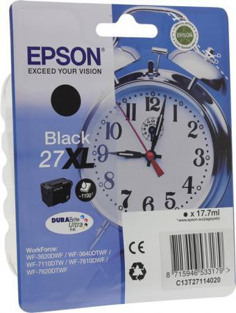 Картридж Epson C13T27114020 для WF-3620/3640/7110/7610/7620 черный картридж epson c13t27114020 для wf 3620 3640 7110 7610 7620 черный