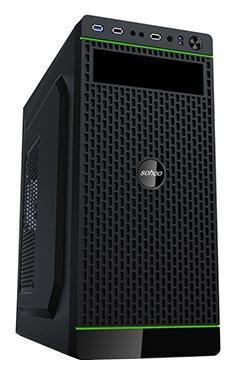 Корпус ATX PowerCool S2007BK 500 Вт чёрный цена