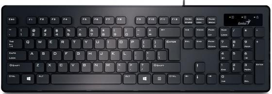 Клавиатура проводная Genius SlimStar 130 USB черный клавиатура genius slimstar 130
