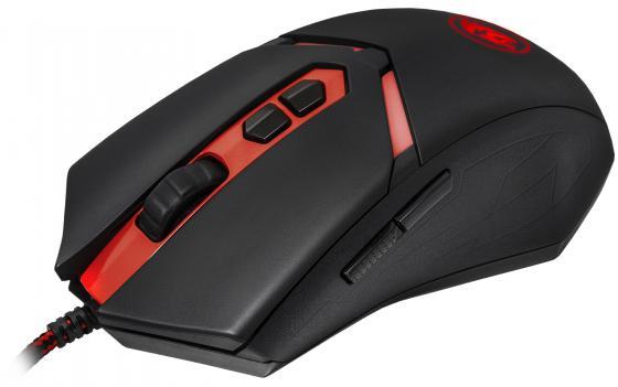 Мышь проводная DEFENDER Redragon Nemeanlion чёрный красный USB 70437 игровая гарнитура проводная defender redragon loren черный красный 64433