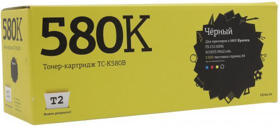 Картридж T2 TC-K580B для Kyocera FS-C5150DN/ECOSYS P6021cdn черный 3500стр картридж t2 tc k360 для kyocera fs 4020dn черный 20000стр