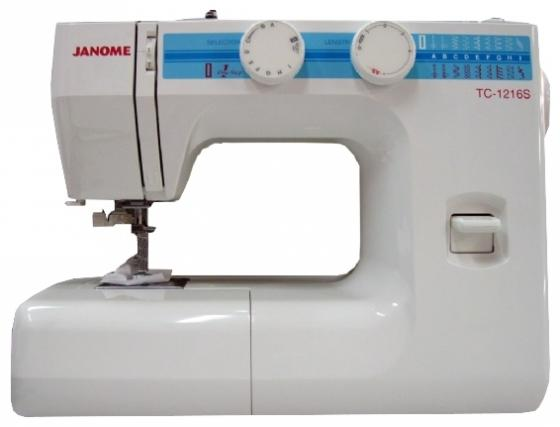 Швейная машина Janome TC-1216S белый authentic au750 rose gold cross ring fashion cute casual ring 1 08 1 15g