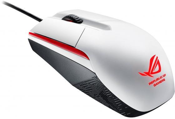 Мышь проводная ASUS ROG Sica белый USB 90MP00B2-B0UA00 мышь проводная asus ut300 черная usb