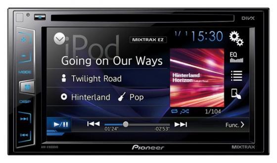 Автомагнитола Pioneer AVH-X1800DVD 6.2 USB MP3 CD DVD FM 2DIN 4x50Вт черный автомагнитола pioneer avh x1800dvd