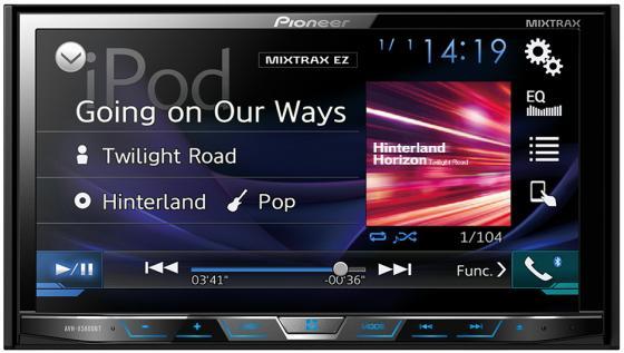 Автомагнитола Pioneer AVH-X5800BT 7 800x480 USB MP3 CD DVD FM RDS 2DIN 4x50Вт черный автомобильный dvd плеер joyous kd 7 800 480 2 din 4 4 gps navi toyota rav4 4 4 dvd dual core rds wifi 3g