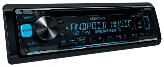 Автомагнитола Kenwood KDC-170Y USB MP3 CD FM RDS 1DIN 4х50Вт пульт ДУ черный система акустическая компонентная kenwood kfc e170p