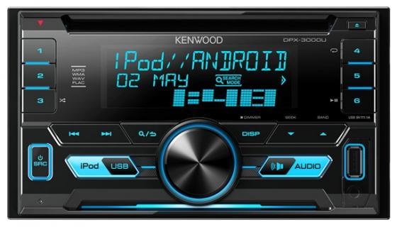 Автомагнитола Kenwood DPX-3000U USB MP3 CD FM RDS 2DIN 4х50Вт пульт ДУ черный автомагнитола kenwood kdc 210ui