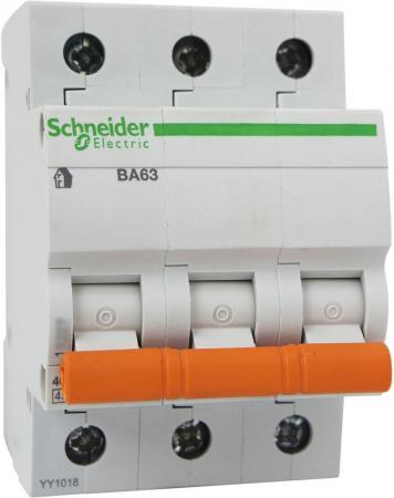 Автоматический выключатель Schneider Electric ВА63 3П 10A C 11222 автоматический выключатель schneider electric ва63 3п 20a c 11224