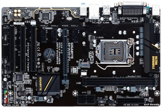 Материнская плата GigaByte GA-H110-D3 Socket 1151 H110 2xDDR4 1xPCI-E 16x 3xPCI 3xPCI-E 1x 4 ATX Retail все цены