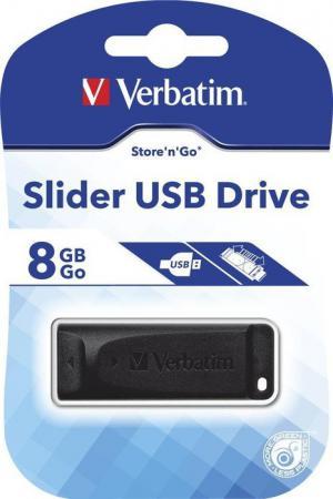 Флешка USB 8Gb Verbatim Store n Go Slider 98695 USB2.0 черный цена