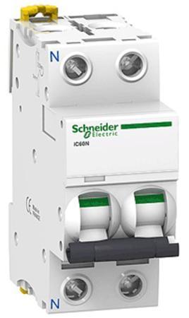 Автоматический выключатель Schneider Electric iC60N 2П 50A C A9F79250 цена