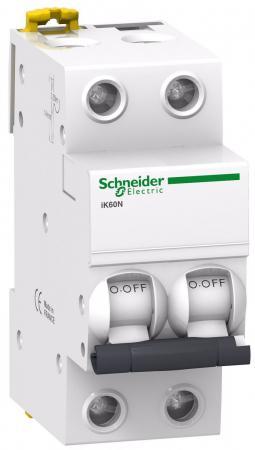 Автоматический выключатель Schneider Electric iC60N 2П 6A C A9F79206 автоматический выключатель schneider electric ва103 1n 6a c 12180dek